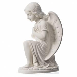 Statue extérieur Ange droit marbre 34 cm s3