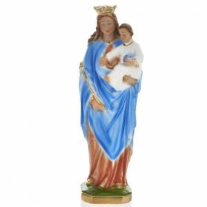 Statue Marie Auxiliatrice plâtre 30 cm s1