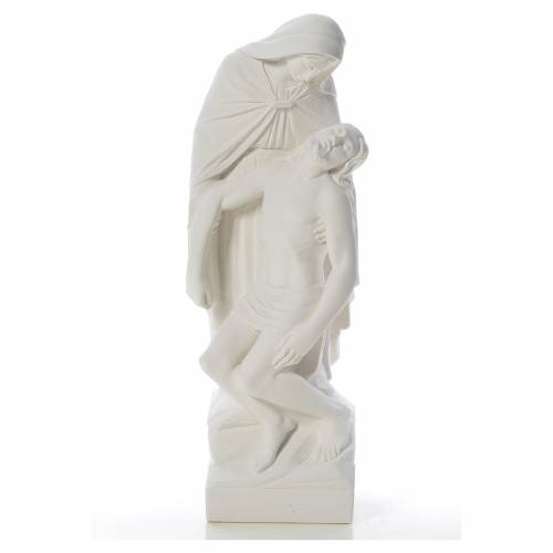 Statue Notre Dame de Pitié marbre blanc 60-80 cm s1