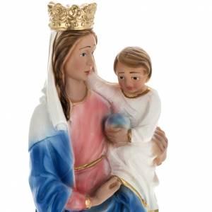 Statue Notre Dame du Rosaire plâtre 30 cm s2
