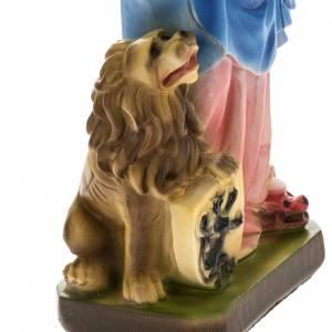 Statue Notre Dame du Rosaire plâtre 30 cm s3