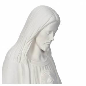 Statue Rédempteur avec coeur poudre de marbre 130cm s4