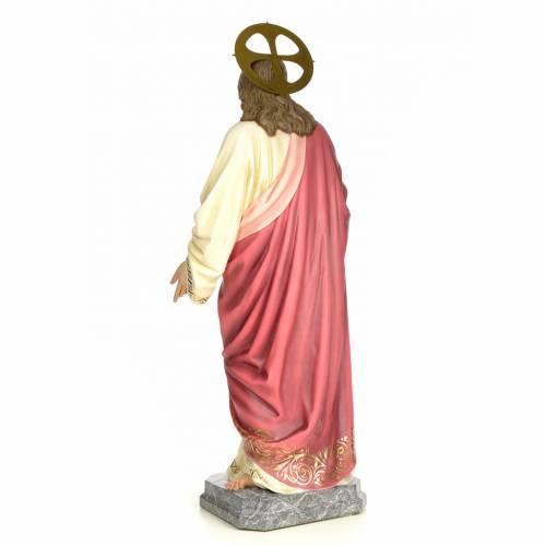 Statue Sacré-Coeur de Jésus 120 cm pâte à bois finition élégante s3