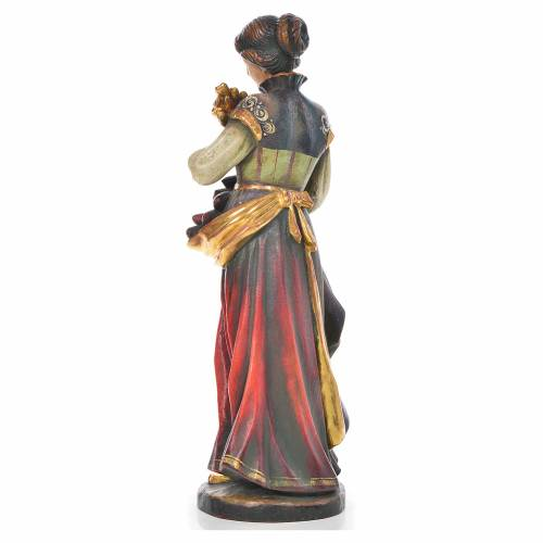 Statue Sainte Notburga bois Valgardena Old Gold s3