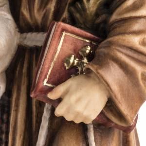 Statue St Antoine avec enfant peinte bois Val Gardena s4