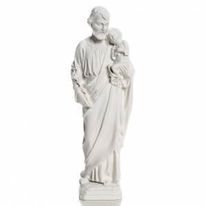 Statue St Joseph marbre pour extérieur s1