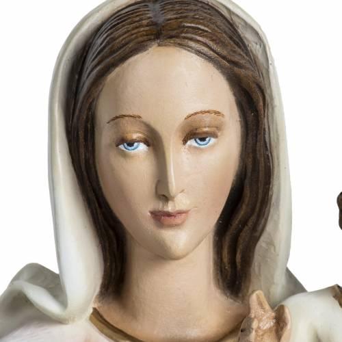 Statue Vierge à l'enfant en fibre de verre 60 cm s4
