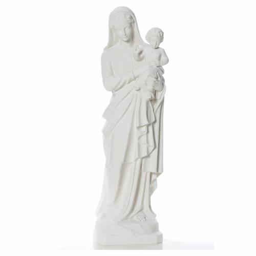 Statue Vierge à l'enfant poudre de marbre 100 cm s1