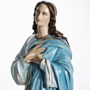 Statue Vierge de l'assomption 100 cm fibre de verre lucide s9