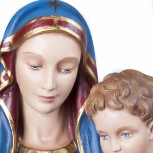 Statue Vierge de la consolation marbre 130cm peinte s4