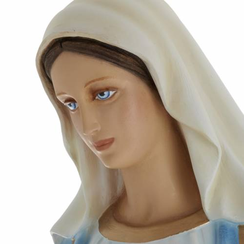 Statue Vierge Immaculée marbre 100cm peinte s6