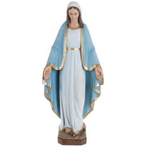 Statue Vierge Miraculeuse manteau bleu 60 cm fibre de verre s1