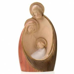Krippe aus Grödnertal Holz: Stilisierte Geburt aus Holz 20 Zentimeter