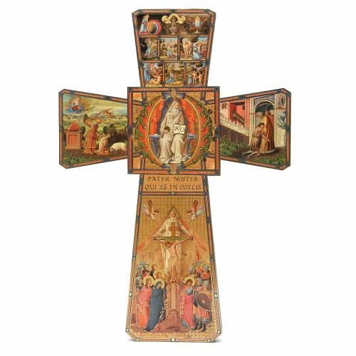 STOCK Cross God the Father in wood 70x50cm s1