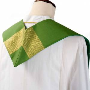 Stola liturgica pura lana strisce dorate s7