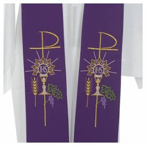 Priesterstolen: Stola mit Kommunionssymbolen aus Polyester