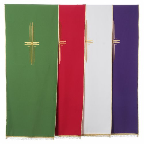 Stylized cross pulpit cover, polyester s1