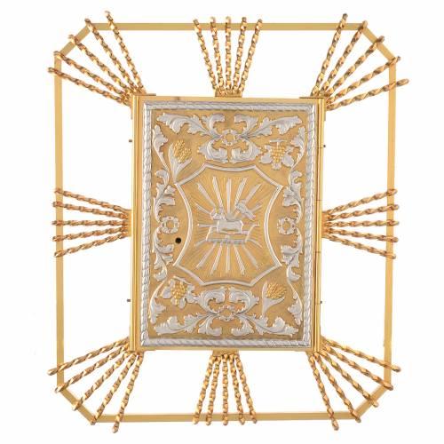 Tabernacle à accrocher avec rayons Agneau laiton s1