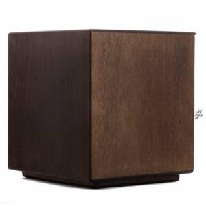 Tabernacolo da mensa legno porta ottone smalto pane s6