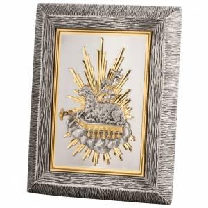 Tabernacolo da muro Agnello Immolato in bronzo e ottone s1