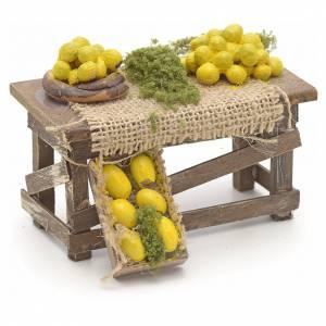 Table de citrons en miniature crèche Napolitaine s2