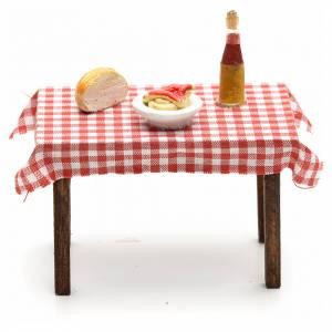 Table dressée miniature crèche Napolitaine 5,5x7x5 s1