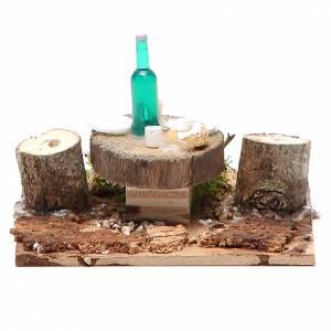 Table en bois sur base pour crèche 2,5x9x9 cm modèles assortis s5
