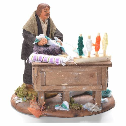 Tailor with stall, Neapolitan Nativity 10cm s1