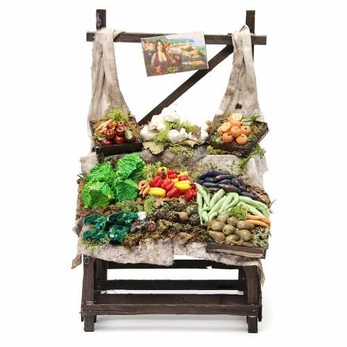 Étalage marchand de légumes en cire 40x23x21 cm s1