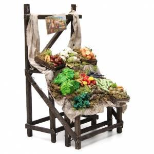 Étalage marchand de légumes en cire 40x23x21 cm s4