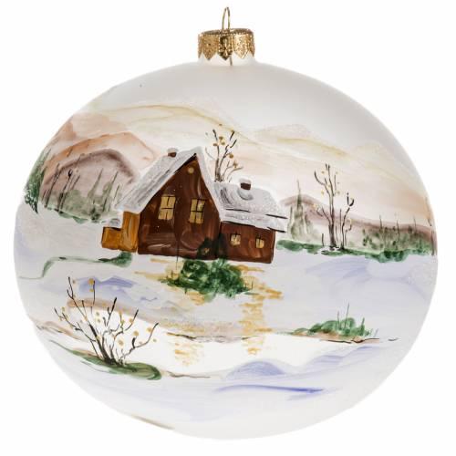 Tannenbaum Kugel Glas Schnee Landschaft 15cm s1