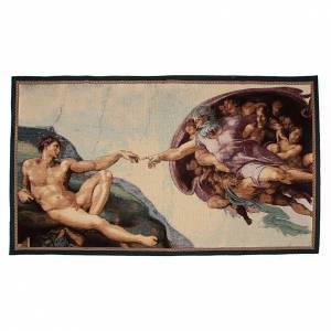 Tapisseries religieuses: Tapisserie Création fresque de Michel-Ange 65x125 cm