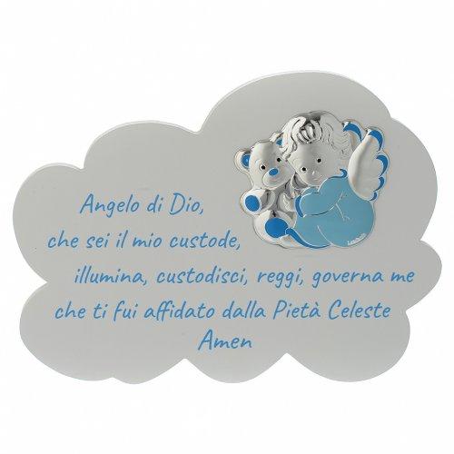 Tavola Nuvola celeste con preghiera e angelo s1
