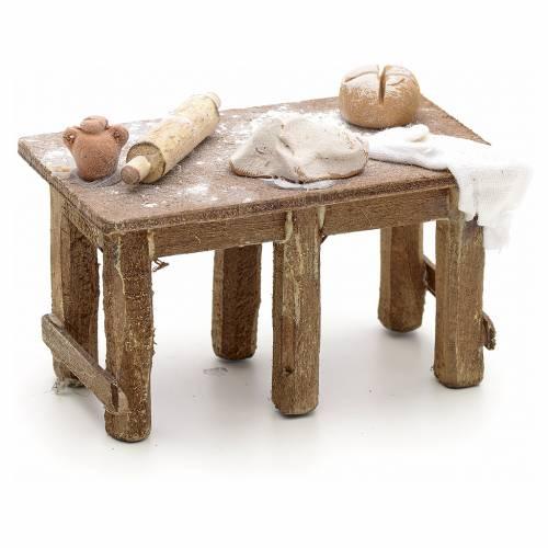 Tavolo del panettiere presepe Napoli s2