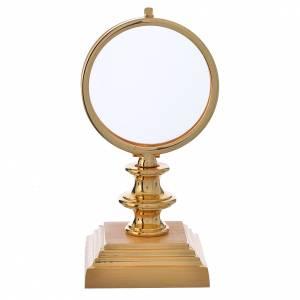 Teca ostia 7,5 cm ottone dorato h 15 cm s1
