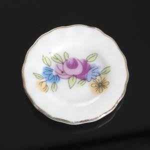 Hauszubehör für Krippe: Teegeschirr aus Porzellan Miniatur Krippe