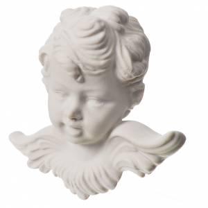 Testina angelo 11 cm rilievo in marmo s2