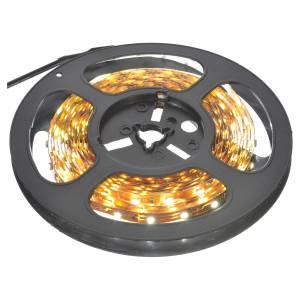 Tiras 5 m luces de Navidad 300 LED blanco hielo adhesivas y flexibles para interior s1