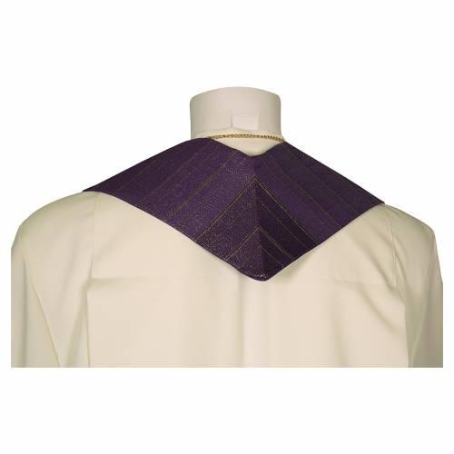 Étole croix stylisée laine double retors s5
