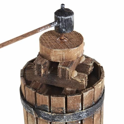 Torchio 11 cm legno presepe Napoli s2