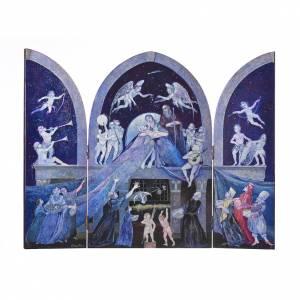 Cuadros, estampas y manuscritos iluminados: Tríptico Sagrada Familia estilo veneciano de Mario Eremita