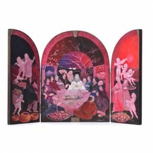 Triptyque à volets vénitienne Cène artiste Mario Eremita s1