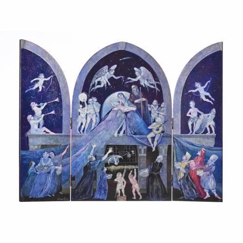 Triptyque à volets vénitienne Sainte Famille de Mario Eremita s1
