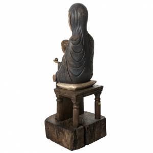 Trone de la sagesse 72 cm bois Bethléem s4