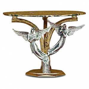 Basi per ostensorio: Tronetto angeli ottone fuso bicolore
