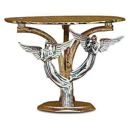Tronetto angeli ottone fuso bicolore s1