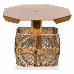 Basi per ostensorio: Tronetto ottagonale croce e raggi