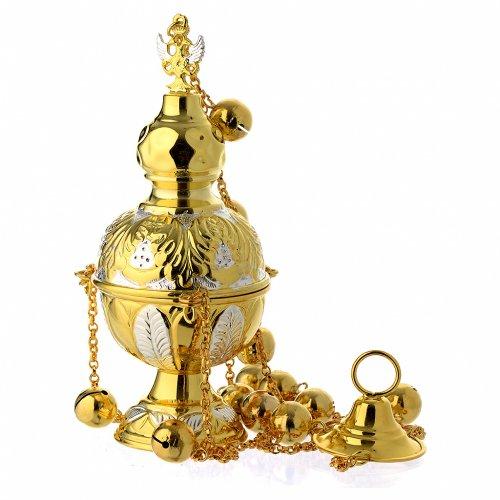 Turibolo stile ortodosso oro argento s1
