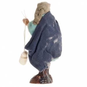 Uomo con caciotta 8 cm presepe di Napoli s2