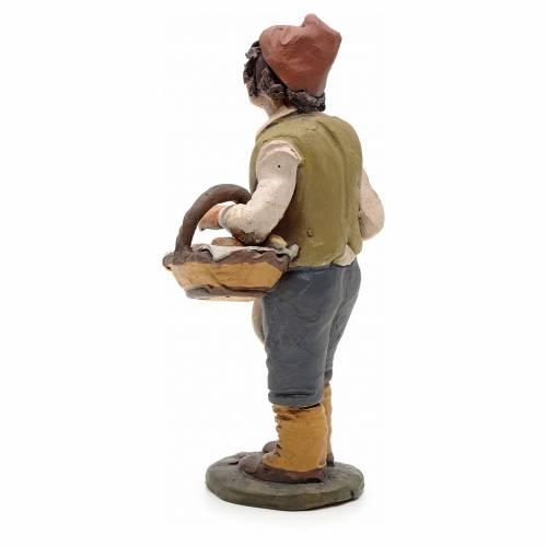 Uomo con pane terracotta Deruta 18 cm s3